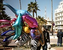 Carnival balloons for a cyprus public holiday