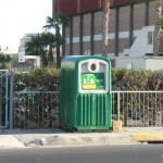 Green bins for glass recycling in Cyprus