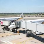 Monarch aeroplanes at Larnaka airport