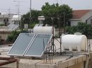 Water tanks on a roof in Cyprus
