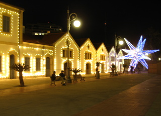 Christmas decorations in a Cyprus town