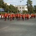 Ochi Day Parade showing the Municipal Band in Cyprus